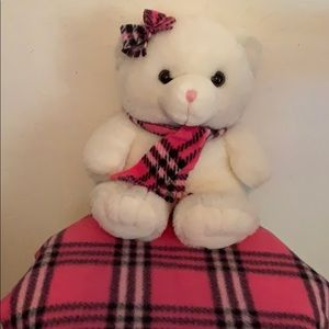 Build a bear baby with her blanket